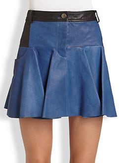 Thakoon Addition - Leather Mini Skirt