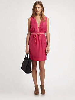 See by Chloe - Silk Drawstring Tennis Dress
