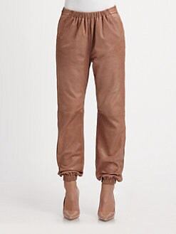 See by Chloe - Leather Jogging Pants