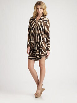 Haute Hippie - Silk Boyfriend Shirtdress