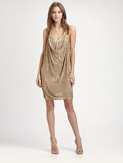 Haute Hippie - Embellished Silk Halter Dress