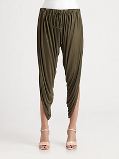 Haute Hippie - Draped Modal Harem Pants