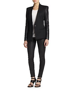 Helmut Lang - Wool & Leather Blazer