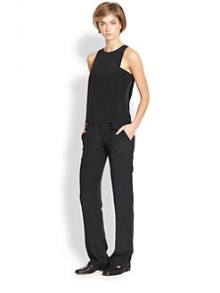 Thakoon Addition - Silk Layered-Panel Jumpsuit