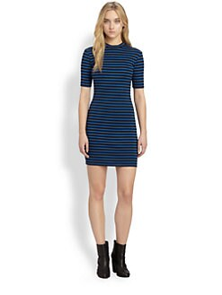 T by Alexander Wang - Striped Knit Dress