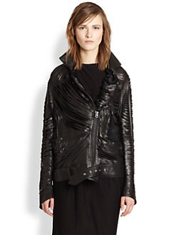 Acne Studios - Mason Laser-Cut Leather Jacket