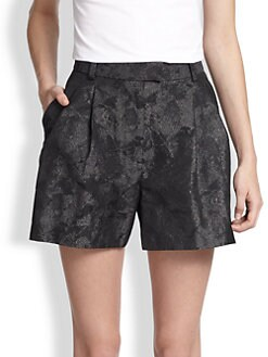 3.1 Phillip Lim - Metallic Jacquard Shorts