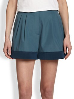 3.1 Phillip Lim - Silk-Trimmed Cotton Shorts