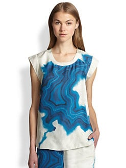 3.1 Phillip Lim - Silk Geode-Print Top