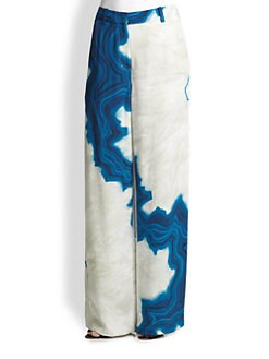 3.1 Phillip Lim - Silk Geode-Print Wide-Leg Pants