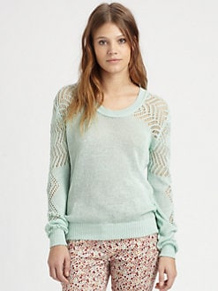 Thakoon Addition - Crochet-Trim Sweater