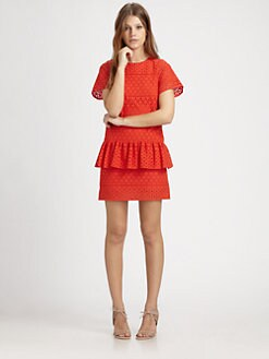 Thakoon Addition - Eyelet Peplum Dress