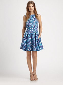 Thakoon Addition - Watercolor Floral Poplin Dress