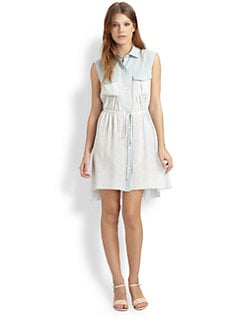 Thakoon Addition - Lace-Print Shirtdress