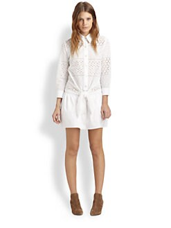 Thakoon Addition - Eyelet Shirtdress