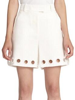 3.1 Phillip Lim - Embroidered Eyelet Shorts