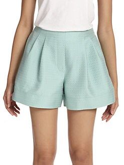 3.1 Phillip Lim - Textured Pleated Shorts