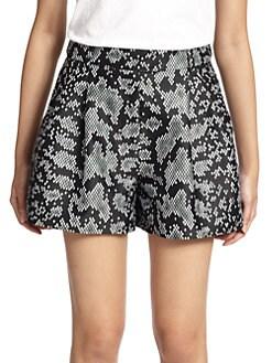 3.1 Phillip Lim - Snakeskin-Print Shorts