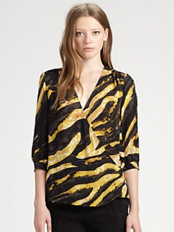 Kelly Wearstler - Zebra-Print Silk Top