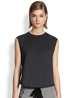 3.1 Phillip Lim - Silk Cap-Sleeved Cotton Tee
