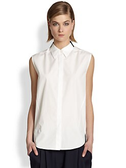 3.1 Phillip Lim - Sleeveless Cotton Shirt