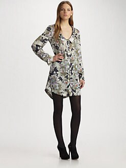Suno - Drop-Neck Silk Dress