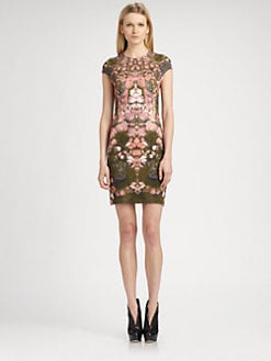 McQ Alexander McQueen - Cap-Sleeve Jersey Dress