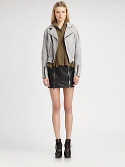 McQ Alexander McQueen - Double-Zip Leather Skirt
