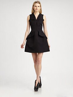 McQ Alexander McQueen - Pleated Peplum Dress