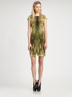 McQ Alexander McQueen - Silk Cap-Sleeve Dress