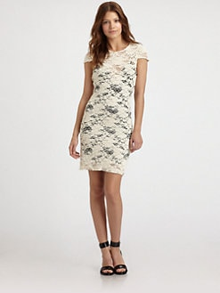L'AGENCE - Lace Cap-Sleeve Dress