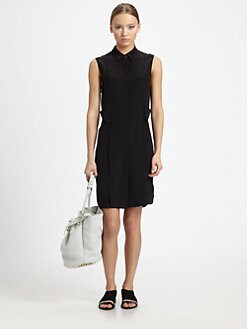 Alexander Wang - Silk Floating-Racerback Dress