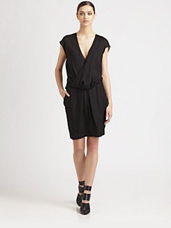 Alexander Wang - Silk Gauze Draped Back Dress