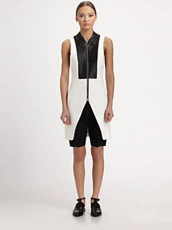 Alexander Wang - Leather-Waist Bermuda Shorts