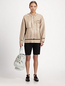 Alexander Wang - Lambskin Leather Suspension-Cutout Jacket