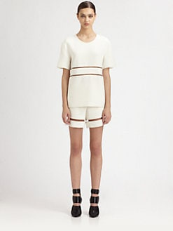 Alexander Wang - Silk Crepe Illusion T-Shirt