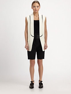 Alexander Wang - Crepe Cutaway Vest
