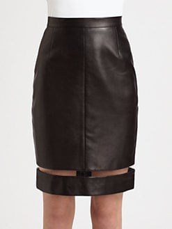 Alexander Wang - Leather Illusion Pencil Skirt