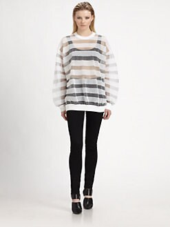 Alexander Wang - Semi-Sheer Snake-Pattern Top