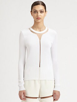 Alexander Wang - Floating Spine Illusion Pullover Sweater