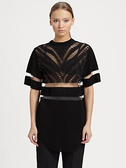 Alexander Wang - Zebra-Mesh Top