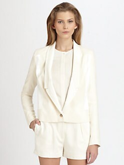 J Brand Ready-To-Wear - Marion Leather-Trim Jacket