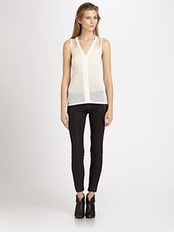 J Brand Ready-To-Wear - Salma Semi-Sheer Tank