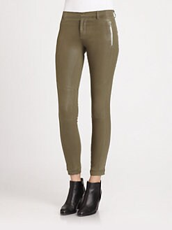 J Brand Ready-To-Wear - Angela Coated Skinny Pants