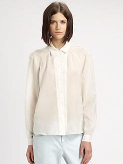 Theyskens' Theory - Blurry Silk Chiffon Shirt