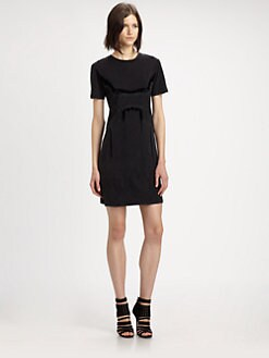 Theyskens' Theory - Cherry Flocked Velvet Tunic Dress