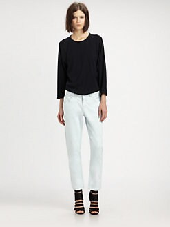 Theyskens' Theory - Cotton Jersey Pullover Top