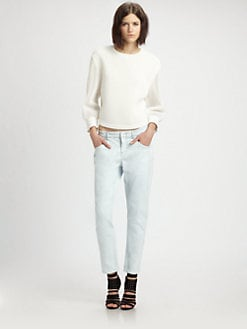 Theyskens' Theory - Mesh Cropped Top