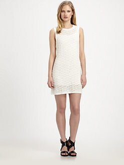 Theyskens' Theory - Kandy Open-Knit Stretch-Silk Dress