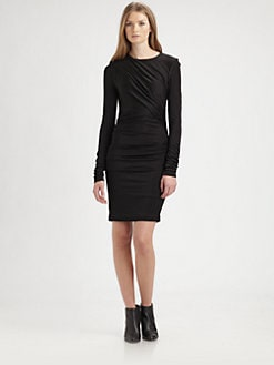 T by Alexander Wang - Pleated Knit Dress